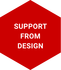 Support from design