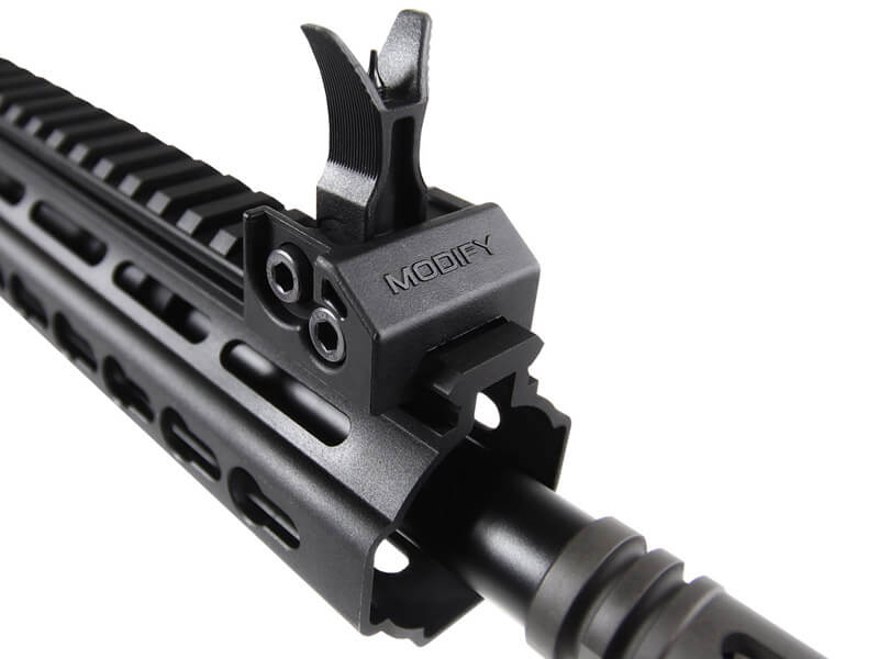 The Modify XTC CQB Automatic Electric Gun with 3-Point Fixed Ring and Double Nuts.